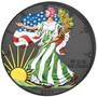 PEACE Four Seasons 4 x 1 oz Silver American Eagle Set 2021