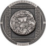 AZTEC COYOLXAUHQUI STONE 3 oz Silver Antique Coin Cook Islands 2021