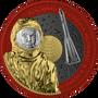 YURI GAGARIN Interkosmos Orbital 1 oz Silver Color enriched Coin