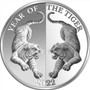 MIRROR TIGER - Year of the Tiger 1 oz Silver Coin 65 mm Tokelau 2022