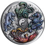 Chinese ancient MYTHICAL CREATURES 5 oz Silver Coin Tuvalu 2021
