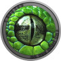DO YOU KNOW ME Green Mamba Snake Silver Coin $1 Niue 2021