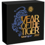 YEAR of the TIGER Lunar Year Antique Finish Silver Coin 5 Cedis Ghana 2022