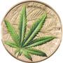 CANNABIS SATIVA Concave 1 oz Silver Proof Gilded Coin Benin 2021