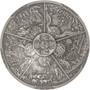 AZTEC FIVE SUNS 3 oz Silver Coin $10 Palau 2021