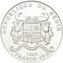 Cannabis Sativa High Relief 1000 Francs BENIN 2016 1 oz Silver Proof Coin