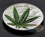 Cannabis Sativa High Relief 1000 Francs BENIN 2016 1 oz Silver Proof Coin
