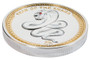 2013 Palau 1 Oz .999 Silver Year of the Snake side