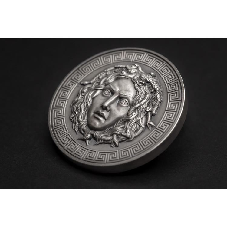8138f7700 MEDUSA Diamond eyes Silver coin 3 oz AF 3000 FR Cameroon 2019