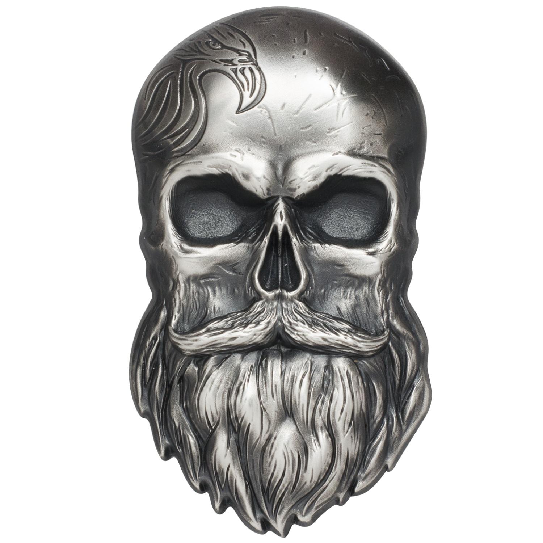 box//coa 2017 Palau Pirate Skull High Relief 1 oz Silver Antiqued finish $5