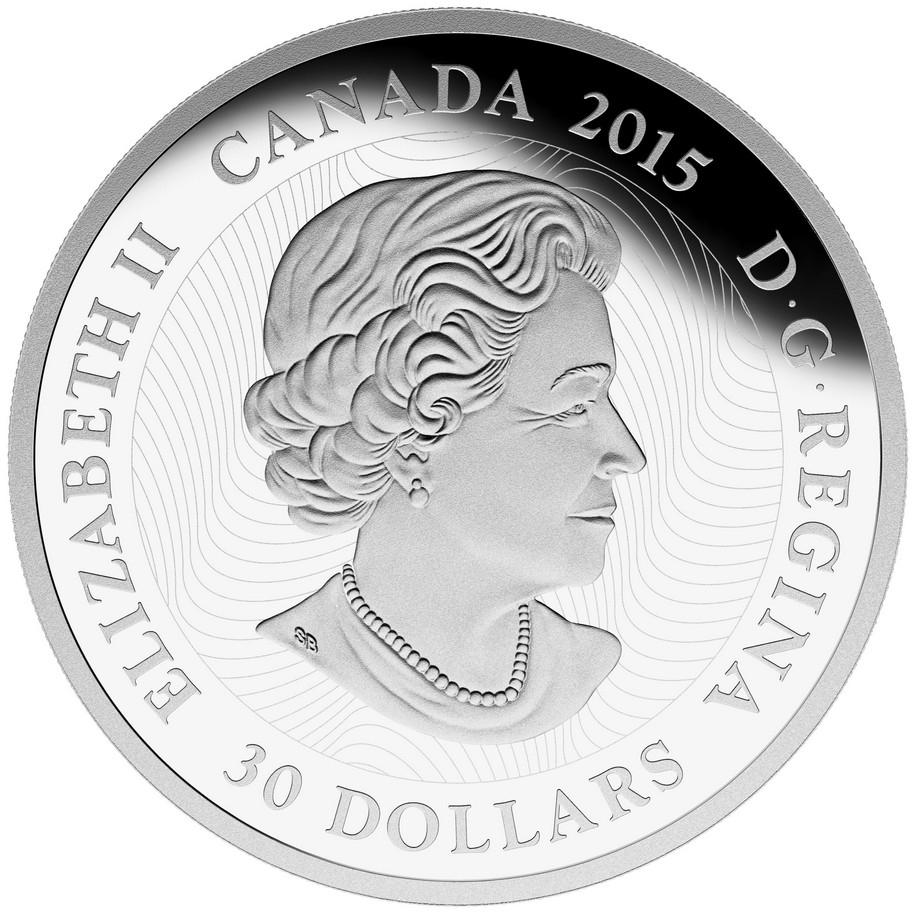 Fireflies Moonlight $30 2015 2OZ Pure Silver Proof Coin Canada Glow-in-Dark