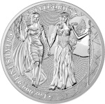 COLUMBIA & GERMANIA 2019 – THE ALLEGORIES 5 MARK 1 OZ PURE SILVER