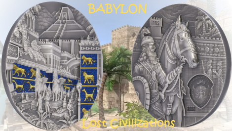 BABYLON Lost Civilizations 2 oz Silver High Relief Coin $10 Palau 2021