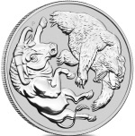 BULL AND BEAR  Silver coin