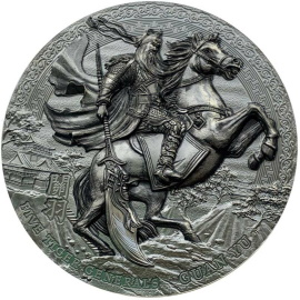GUAN YU Five Tiger Generals 3 oz Silver Black Proof Coin $5 Niue 2020