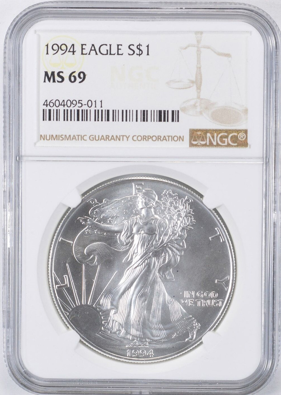 1994 American Silver Eagle NGC MS-69-161629