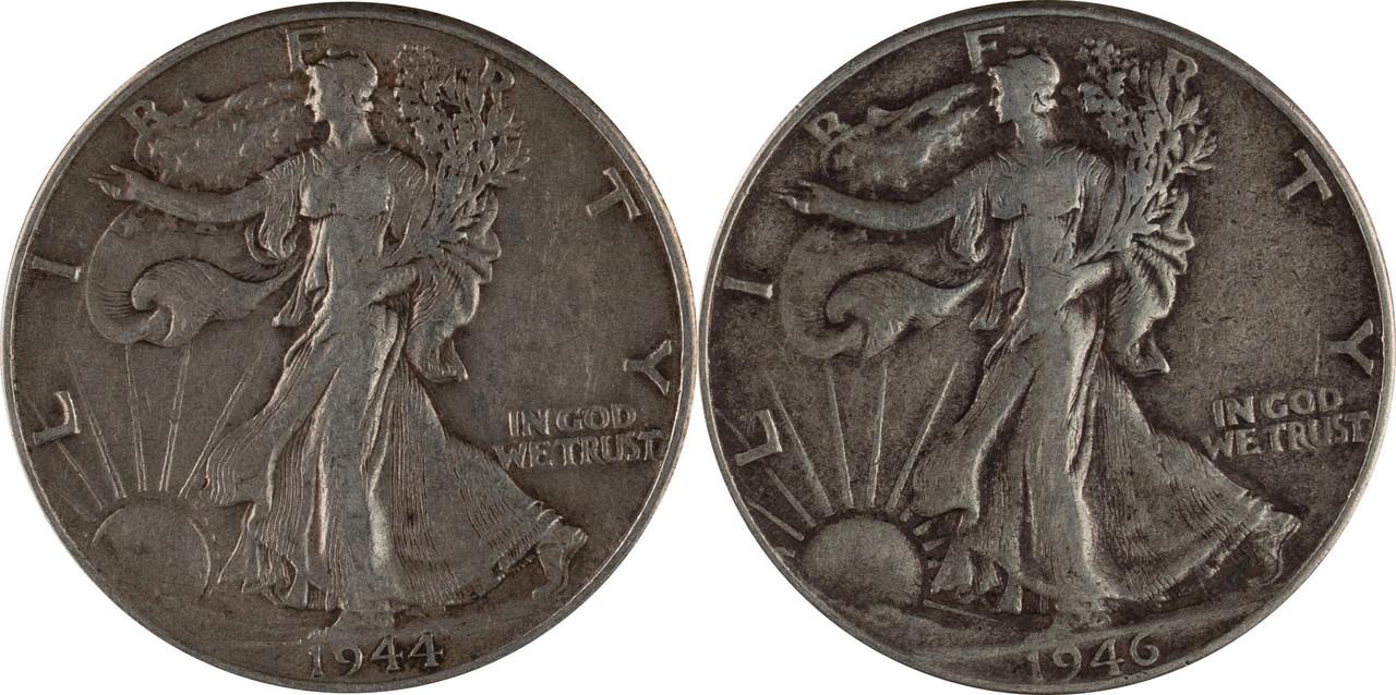 $100 Face Value 90/% Silver Walking Liberty Half Dollars