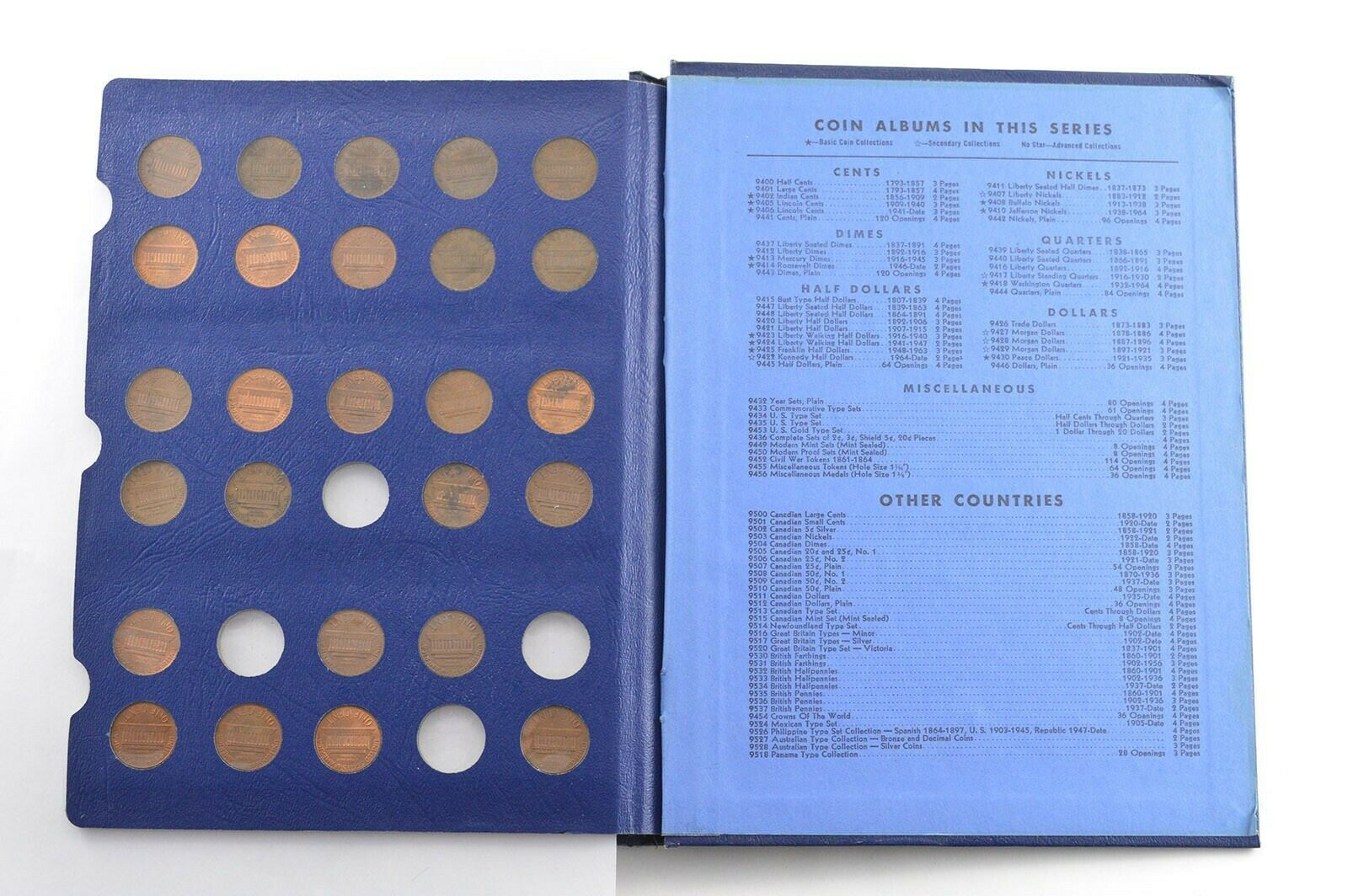 1941-1958 full Lincoln Cent Album