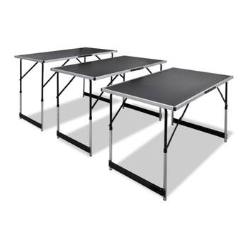 Tapetarski skopivi stol set podesivi po visini 3 komada