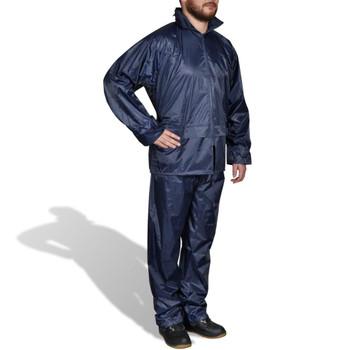 Kišno muško odijelo s kapuljačom, Veličina XXL, Plavo