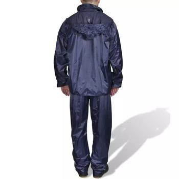 Kišno muško odijelo s kapuljačom, Veličina L, Plavo