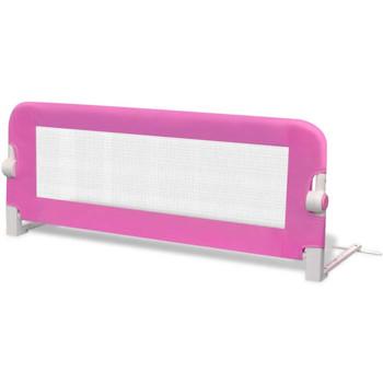 Sigurnosna Ograda za Dječji Krevetić 102 x 42 cm Ružičasta