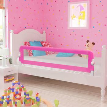 Ružičasta sigurnosna ograda za dječji krevetić 150 x 42 cm