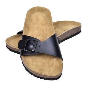Sandale od bio pluta s remenom crne unisex 36