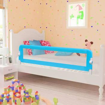 Plava sigurnosna ograda za dječji krevetić 150 x 42 cm