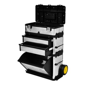 Trodijelna kutija za alat s kotačima