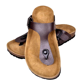 Sandale od bio pluta u obliku japanki smeđe unisex 41