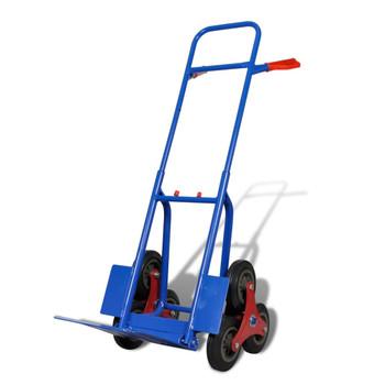 6-kotačna plavo-crvena stepenasta kolica nosivost 150 kg