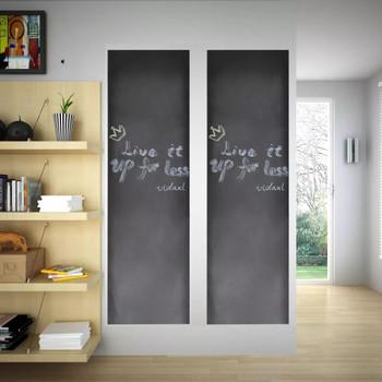 Zidne naljepnice s tablom za crtanje 0,45 x 2m 2 rolne s kredom