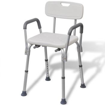 vidaXL bijela aluminijska stolica za tuširanje