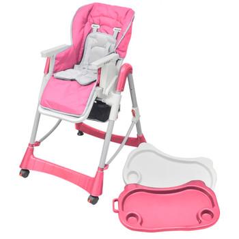 Deluxe podesiva stolica za hranjenje, ružičasta