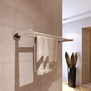 Stalak za ručnike od nehrđajućeg čelika 2 cijevi