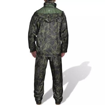 Kišno muško odijelo s kapuljačom, Veličina XXL, Boja kamuflaže