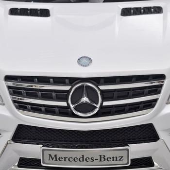 vidaXL Električni Autić Mercedes Benz ML350 Bijeli 6 V