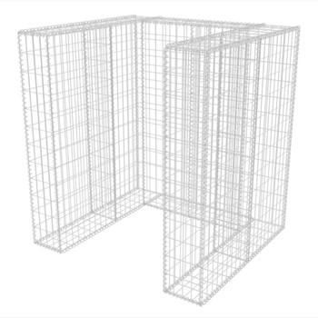 vidaXL Gabionska Ograda za Kantu za Otpad Čelik 110x100x120 cm