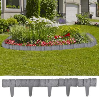 Plastična niska ograda u obliku kamena 41 kom, 10 m