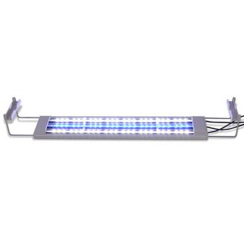 vidaXL LED Akvarijska Lampa 50-60 cm Aluminijum IP67