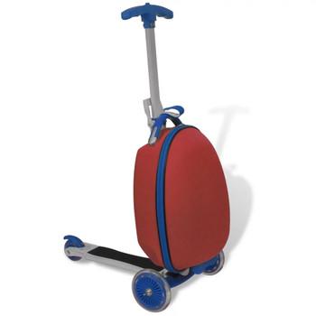 Crveni dječji skuter s prednjom košaricom