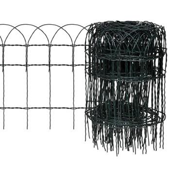 Proširiva niska ograda za travnjak, 10 x 0,4 m