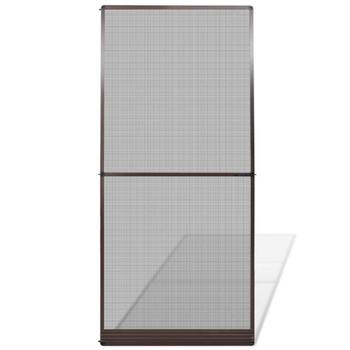 Zaslon protiv insekata za vrata, 100 x 215 cm, smeđi
