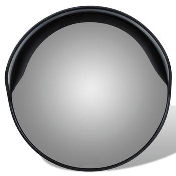 Konveksno vanjsko plastično prometno ogledalo, crno, 30 cm