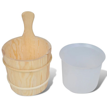 5-dijelni alati za saunu (kanta,žlica,umetak,termometar,higrometar)