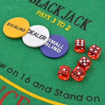 vidaXL Set za Poker i Blackjack s 600 Laserskih Žetona Aluminijum