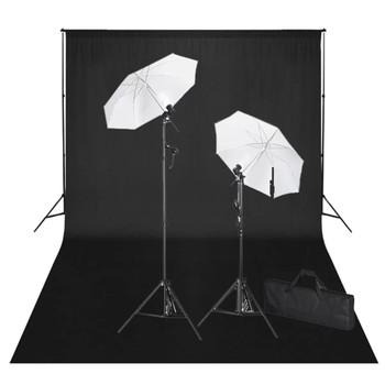 Studio set: Pozadinski sustav crna pozadina 600 x 300 cm i svjetla