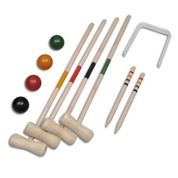 Drveni set za kriket za četiri osobe