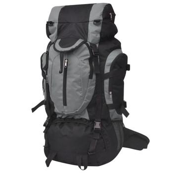 vidaXL Ruksak za Planinarenje XXL 75 L Crno-Sivi